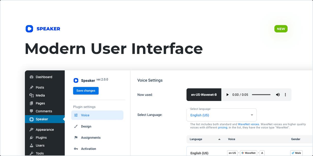 Modern User Interface