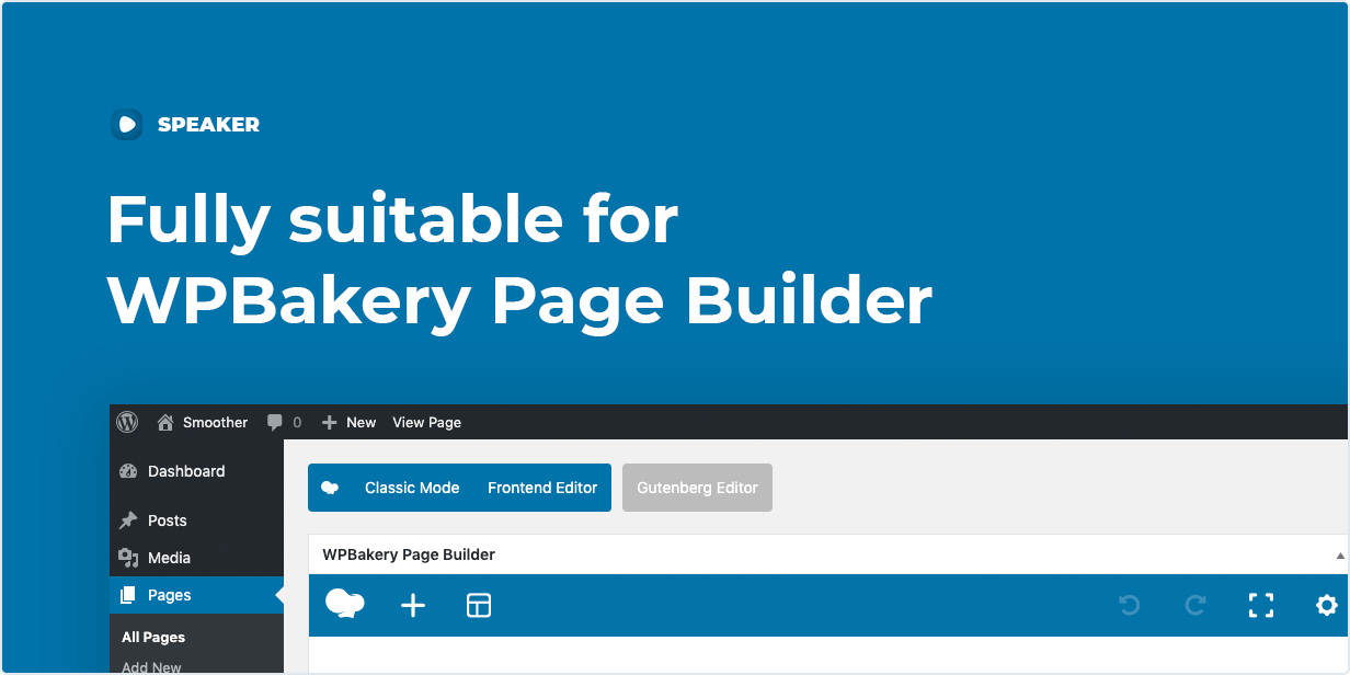 Fully compatible width WPBakery Page Builder