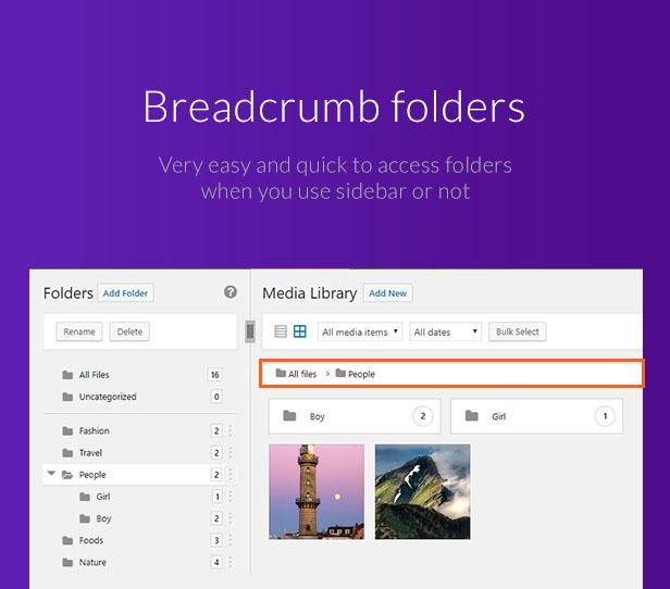 Ultimate Media Library Folders for WordPress - FileBase - 7