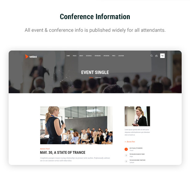 Vetex - Event & Conference WordPress Theme