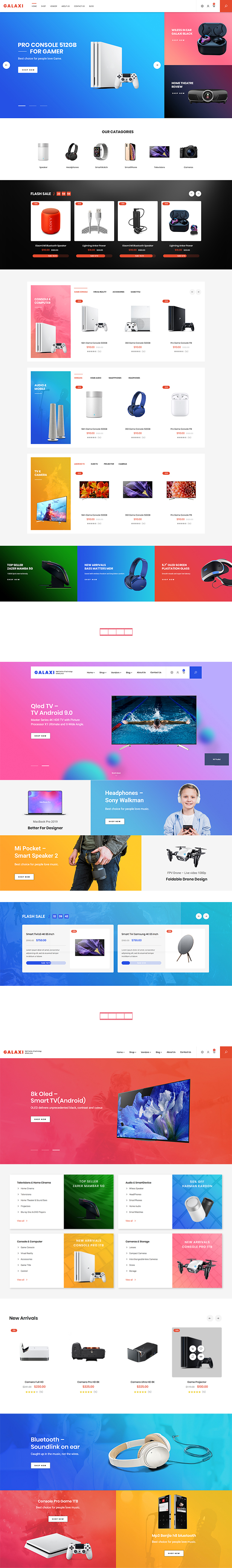 Galaxi - Tech WooCommerce WordPress Theme - 4