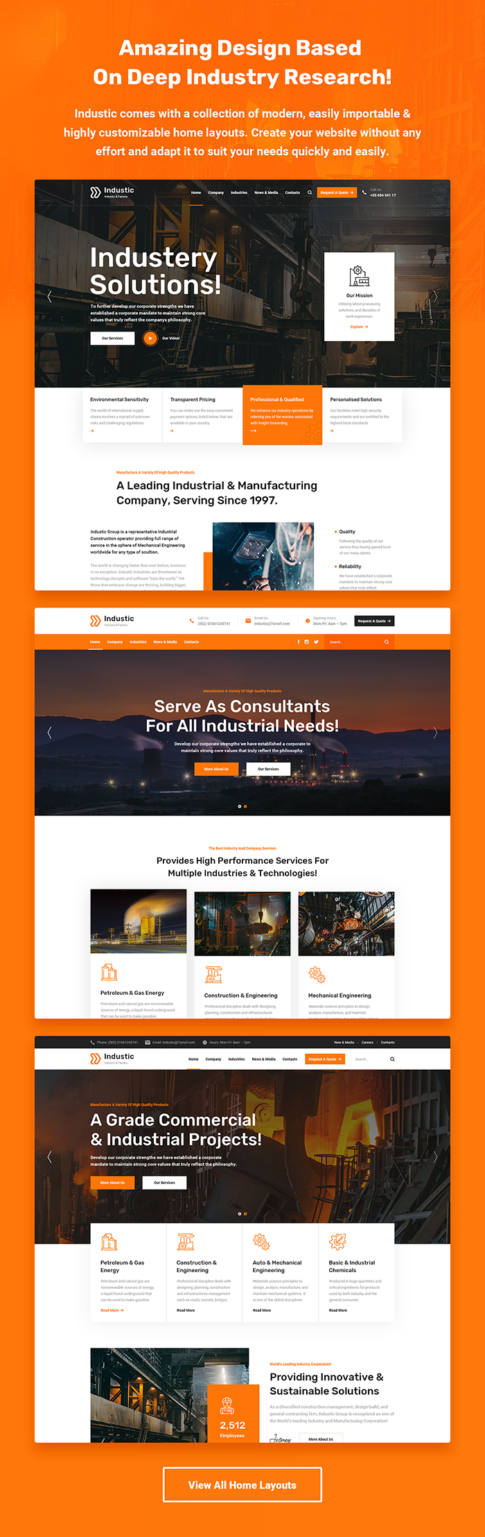 Industic - Factory and Manufacturing WordPress Theme - 2
