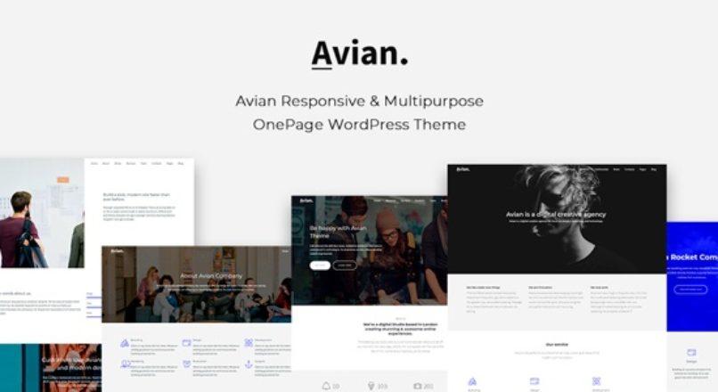 Avian – Responsive and Multipurpose OnePage WordPress Theme