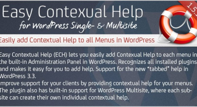 Easy Contextual Help for WordPress