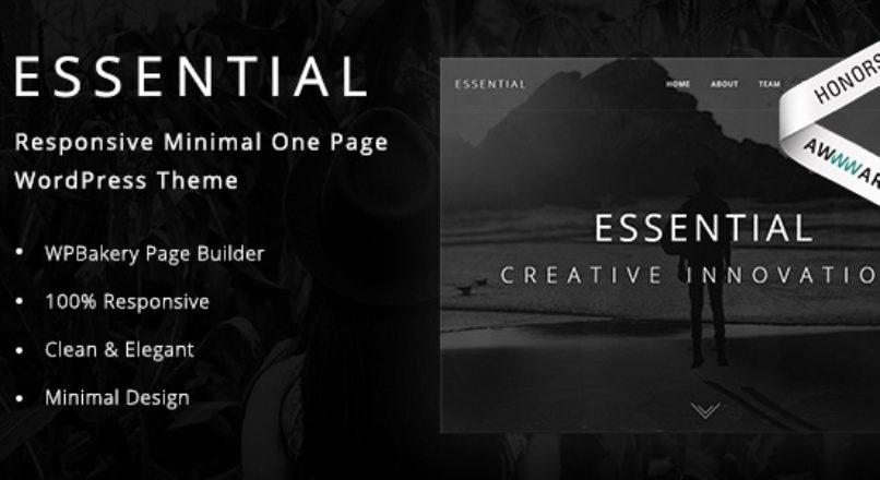 Essential – Responsive Minimal One Page WordPress Theme
