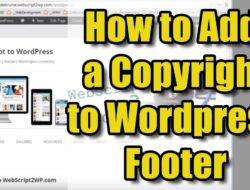 How to Add Copyright Info to WordPress Footer