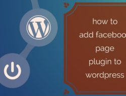 How to add facebook page plugin to wordpress