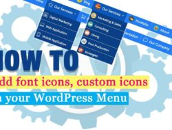 How to add font or custom icon in your WordPress menu – Step by Step Tutorial
