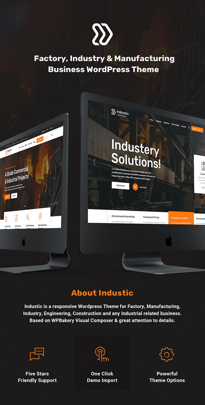 Industic - Factory and Manufacturing WordPress Theme - 1