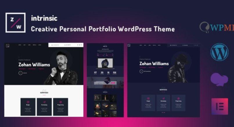Intrinsic – Creative Personal Portfolio WordPress Themes
