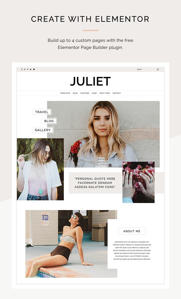 Juliet - A Blog & Shop Theme for WordPress - 1