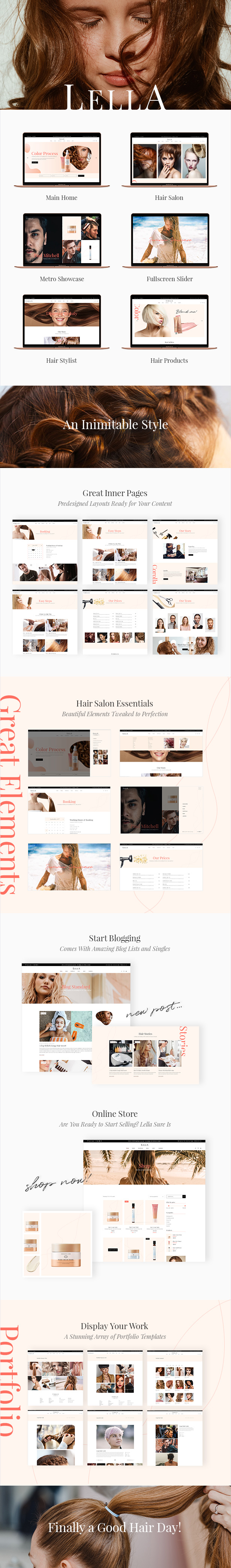 Lella - Hairdresser and Beauty Salon Theme - 1