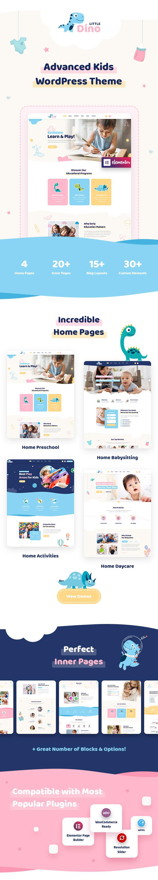 Littledino - Modern Kids WordPress Theme - 1