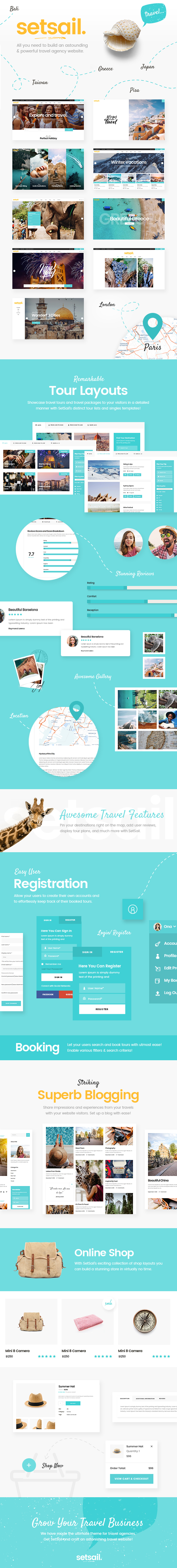 SetSail - Travel Agency Theme - 1