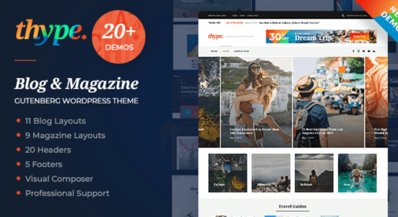 Thype | Multi-Concept Blog & Magazine WordPress Theme