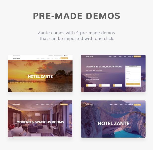Zante Hotel Booking Theme - 2