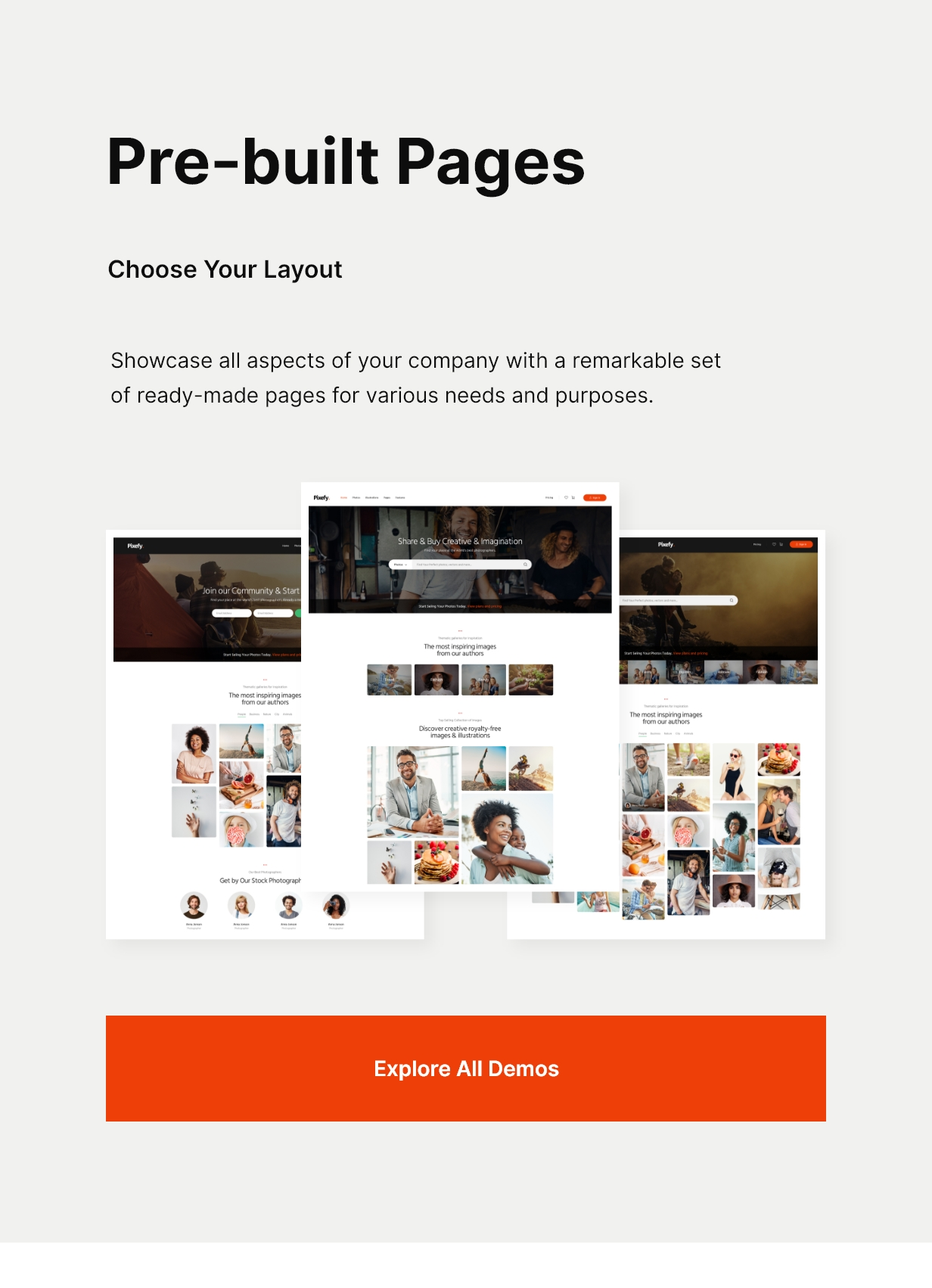 Pixefy | Stock Photography Marketplace Theme - 2