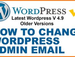How to change WordPress Admin email | Where to find Admin email in WordPress & change it in 2018
