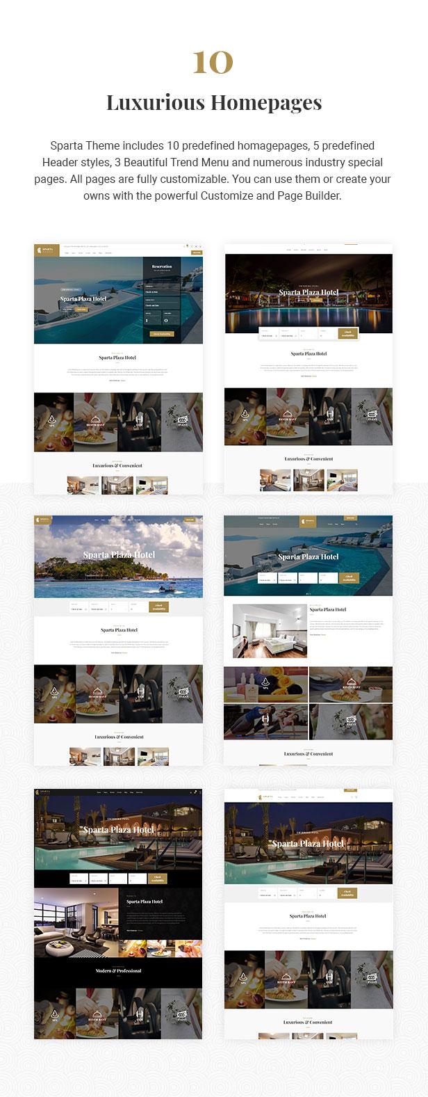 Sparta - Hotel Booking WordPress Theme - 6