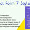 Contact Form 7 Styler – Make Form Stylish Using Custom Design
