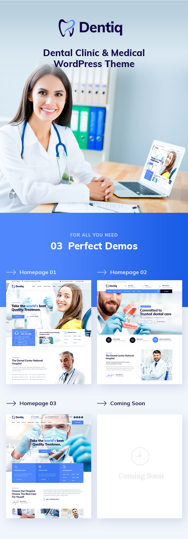 Dentiq WordPress Theme