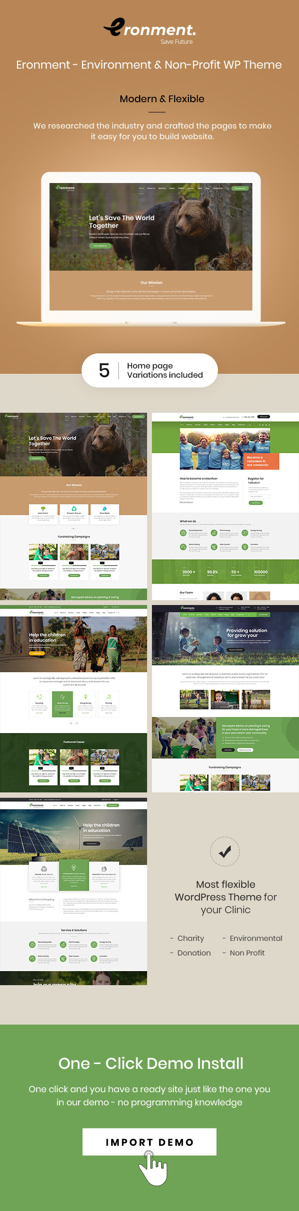 Eronment - Environmental WordPress theme - 1