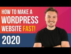 FAST WordPress Tutorial 2020 – How to Make a Website in 8 mins (EASY!) – Video Tutorial