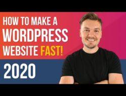 FAST WordPress Tutorial 2020 – How to Make a Website in 8 mins (EASY!) – Video Tutorial