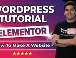 How To Make A WordPress Website 2019 | Elementor Tutorial – Video Tutorial