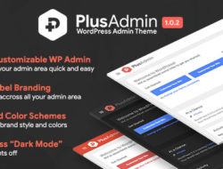 PLUS Admin Theme – WordPress White Label Branding Admin Theme