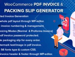 WooCommerce PDF Invoice & Packing Slip Generator