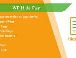 WordPress Hide Post Control the visibility of a post in different views