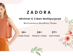 Zadora – Clean, Minimal WooCommerce WordPress Theme