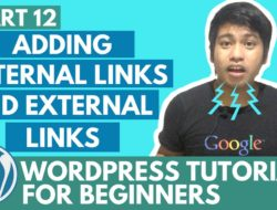 WordPress Tutorial for Beginners – Adding Internal Links and External links – Part 12 – Video Tutorial