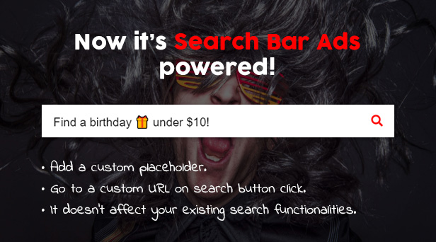 Powered Search Bar