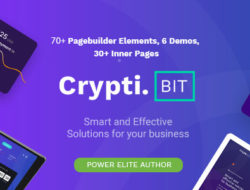 CryptiBIT – Technology, Cryptocurrency, ICO/IEO Landing Page WordPress theme