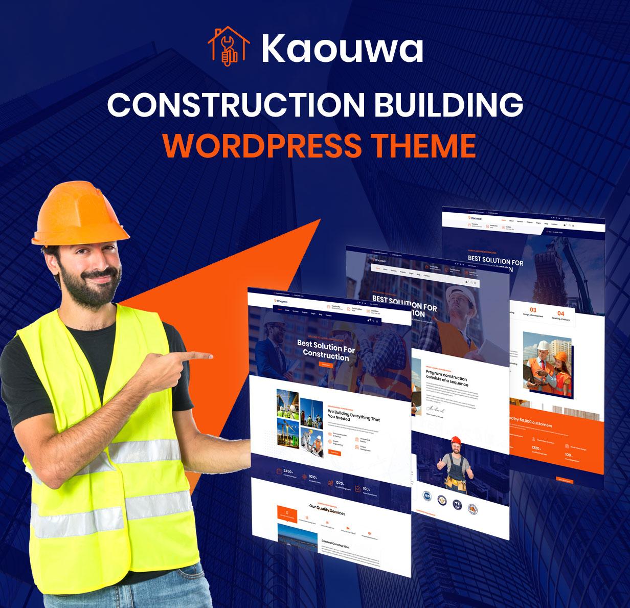 Kaouwa - WordPress Construction Building Theme - 3