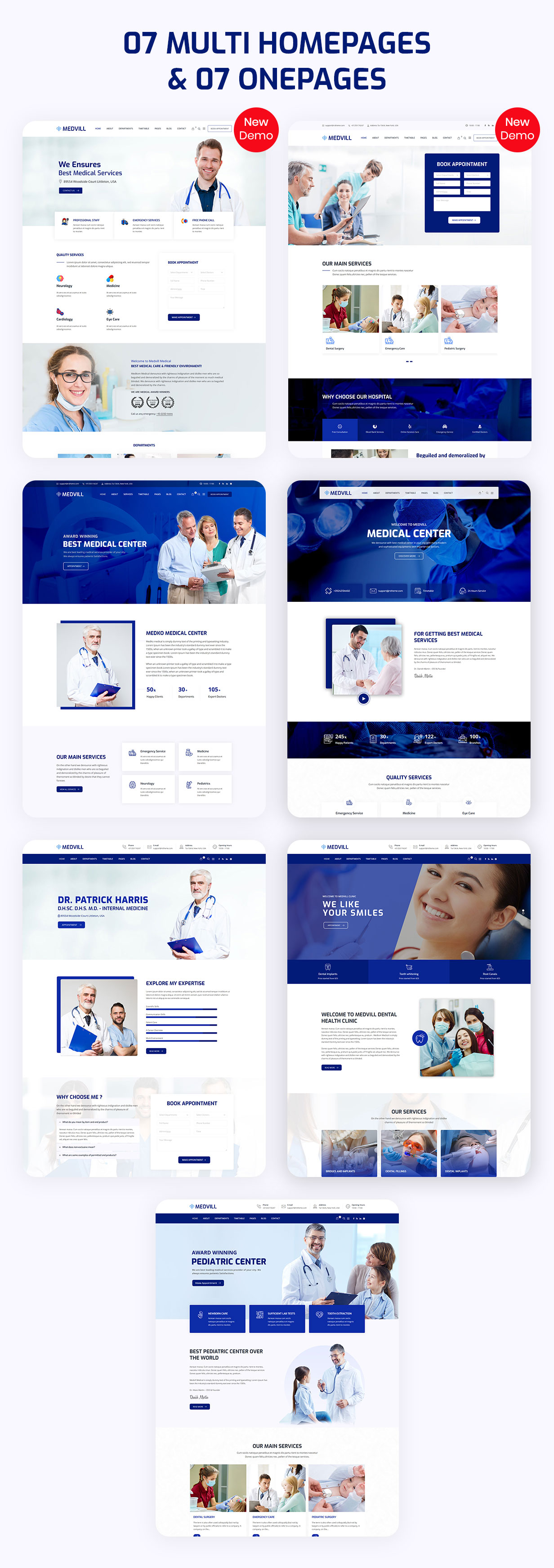 Medvill - Health & Medical WordPress Theme - 5