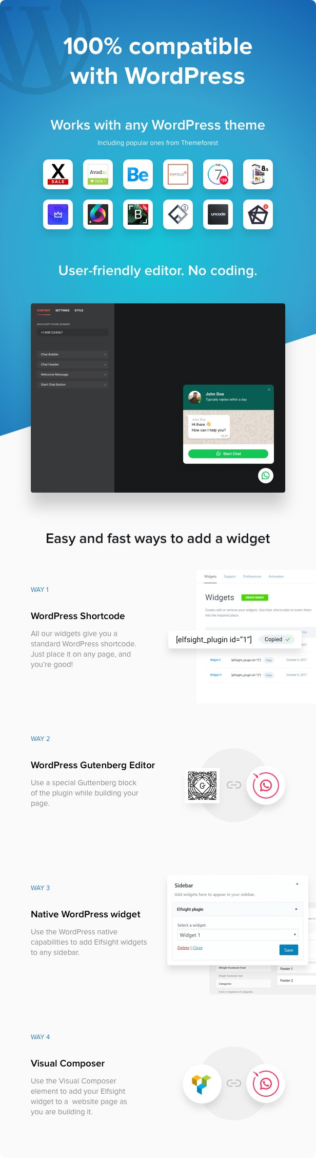 WhatsApp Chat - WordPress WhatsApp Chat plugin - 2