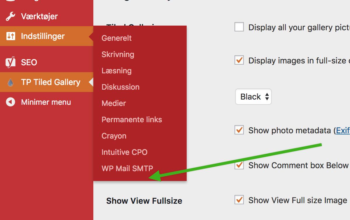 WordPress admin 2