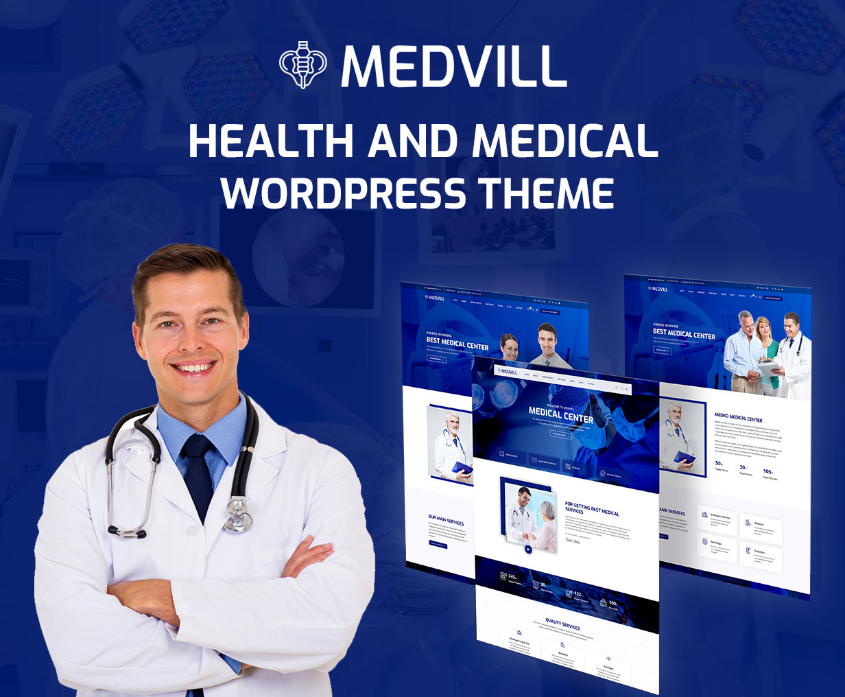 Medvill - Health & Medical WordPress Theme - 4