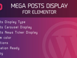Mega Posts Display for Elementor – Premium WordPress Plugin