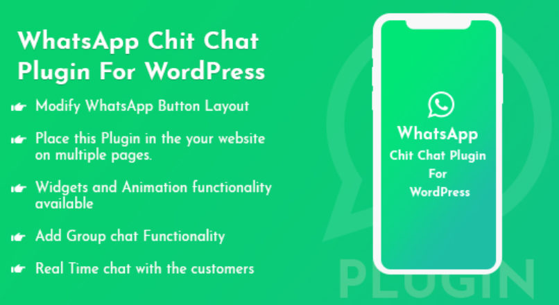 WhatsApp Chit Chat Plugin For WordPress