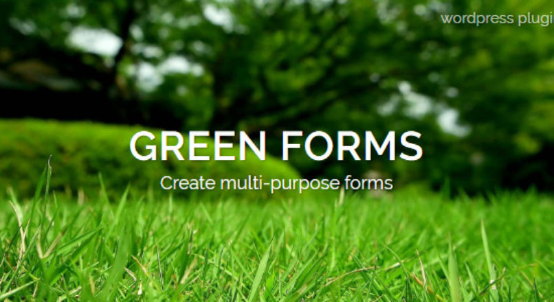WordPress Form Builder – Green Forms