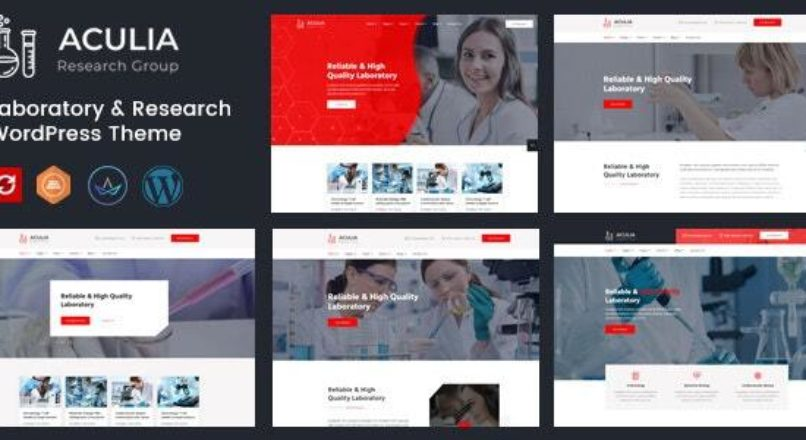 Aculia | Laboratory & Research WordPress Theme