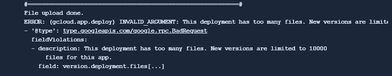 errormessage for too may files