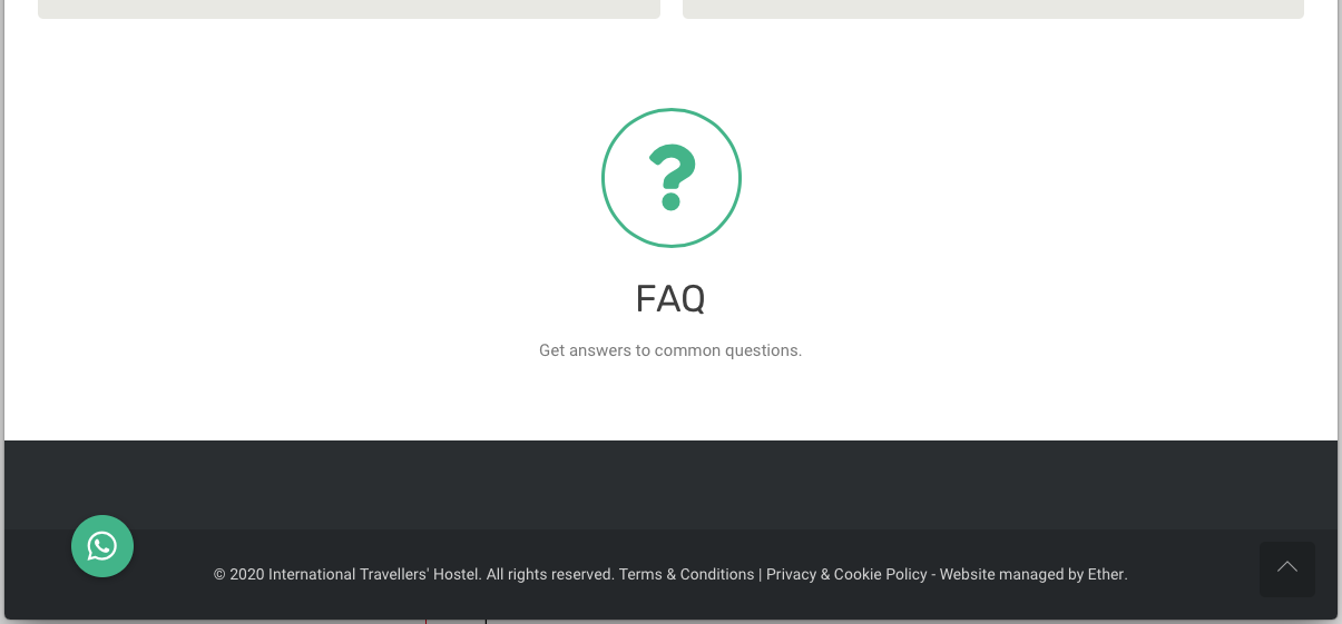 Screenshot of the footer area