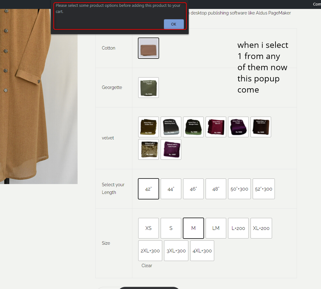 image 2 showing what happens now when I select a fabric from any fabric group