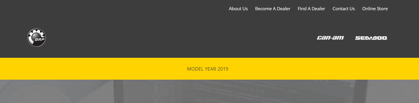 This is how it looks like after I insert a submenu under 'MODEL YEAR 2019'