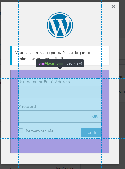Wordpress basic log in overlay